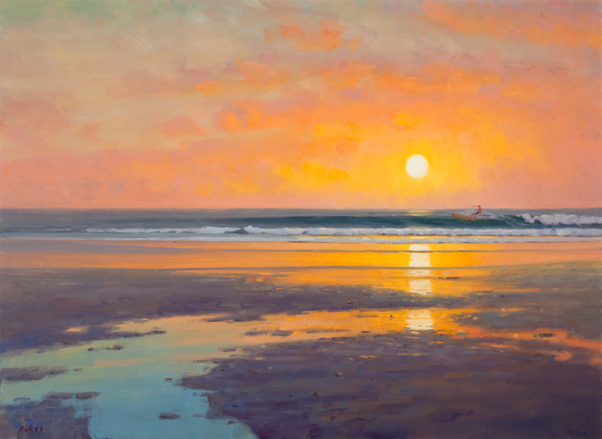 Beach Sunrise Paintings Images